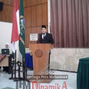 Rektor IAIN Salatiga saat memeberikan pengarahan.