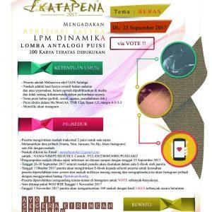 Poster Antologi Puisi LPM DinamikA