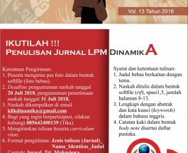 Penulisan Jurnal LPM DinamikA